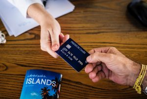 Bank handing over a credit card