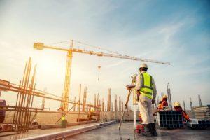 Construction site land surveying