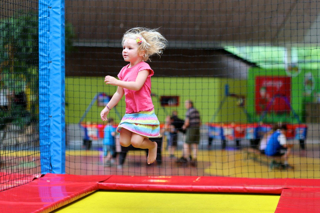 Child playing in an indoor playground