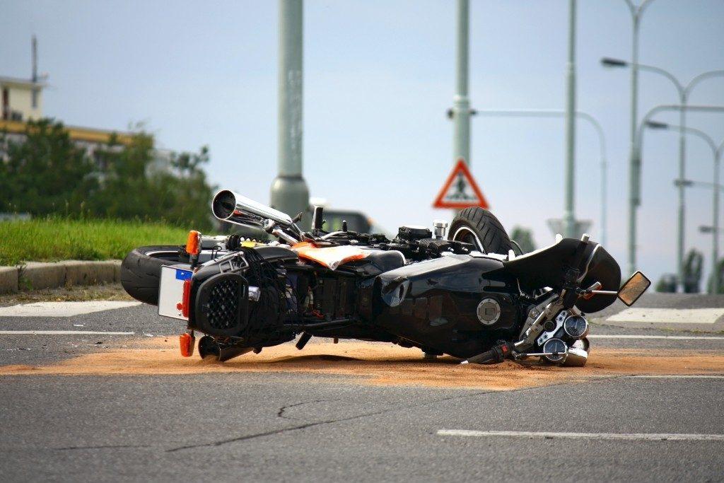 broken motorcycle